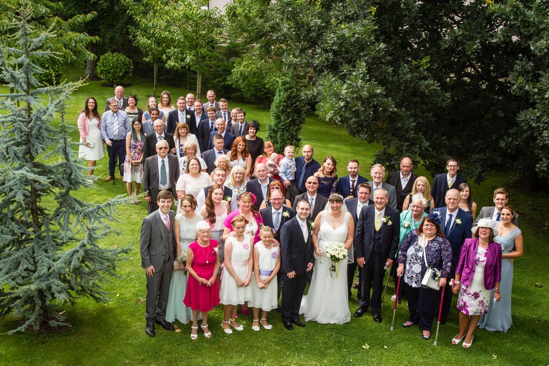 Wedding Photography - Group shot Ribby Hall
