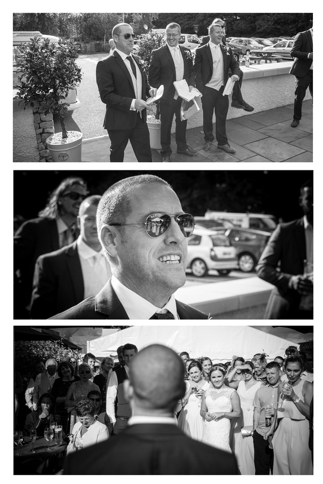 The Grooms Speech, documentary wedding photography